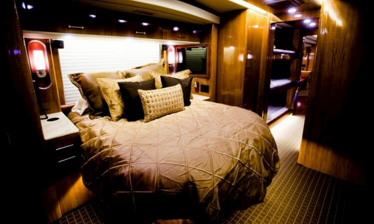 hemphill brothers back lounge on a celebrity tour bus