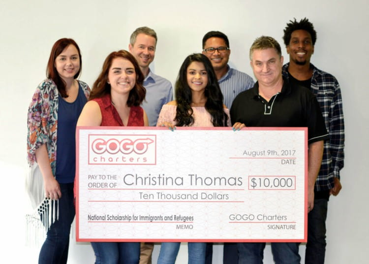 Christina Thomas winner of National Scholarship for Immigrants and Refugees
