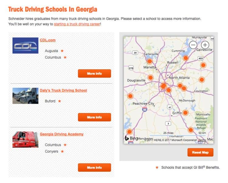 How to find a CDL truck driving school