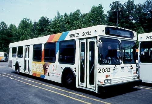 MARTA bus parked