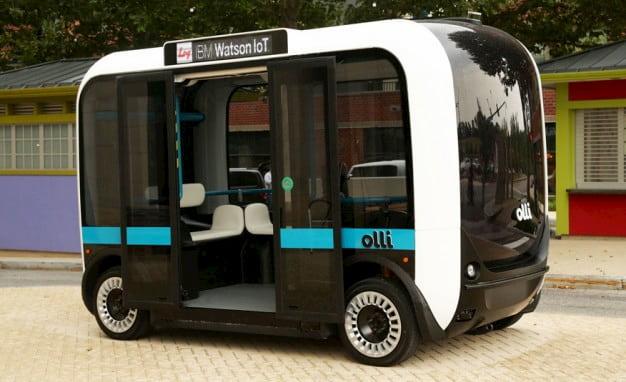 Olli self-driving shuttle