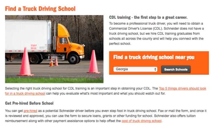 How to find a truck driving school