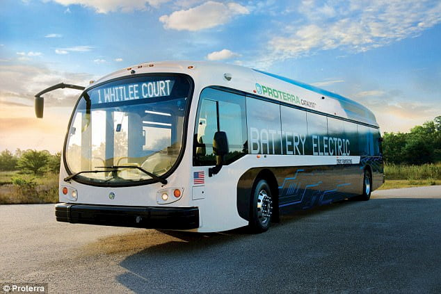 a battery electric bus from proterra