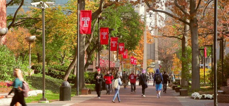 temple university campus tours