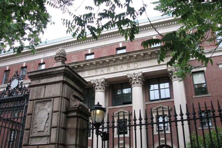 exterior of a brick building at Barnard College