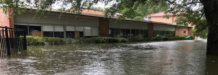 Saint Thomas' Episcopal School after the flood.