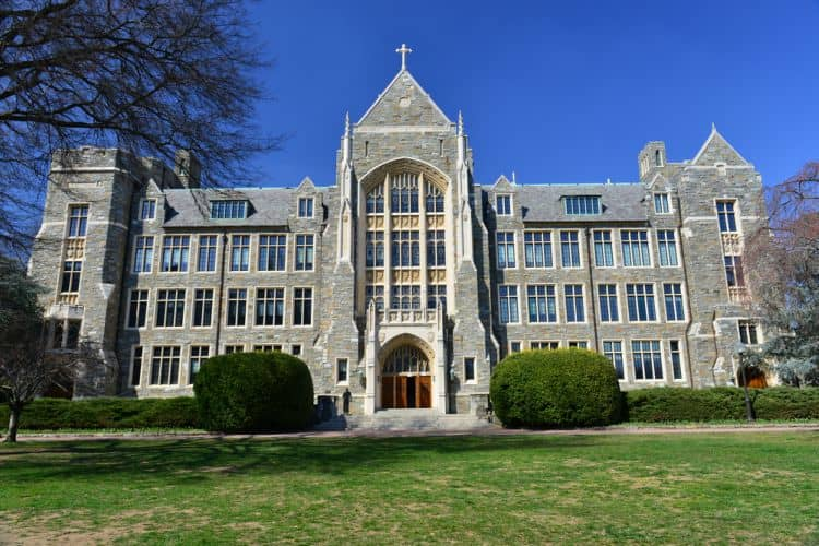 The Georgetown University campus