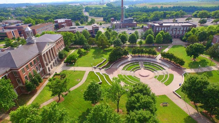 aerial view of Tennessee State University