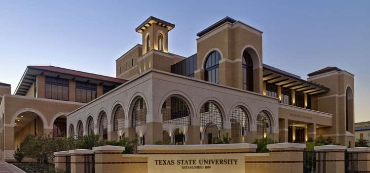 The Texas State University campus