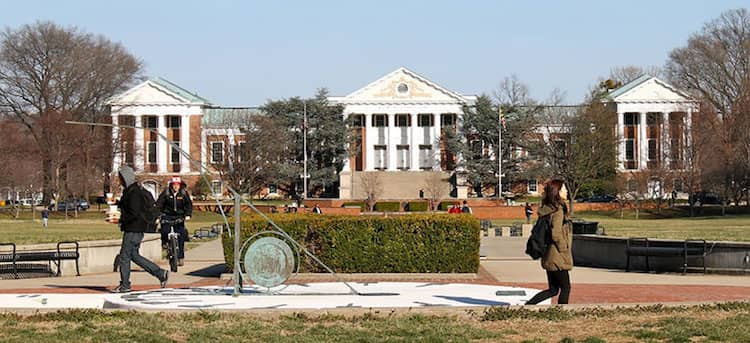 The University of Maryland campus