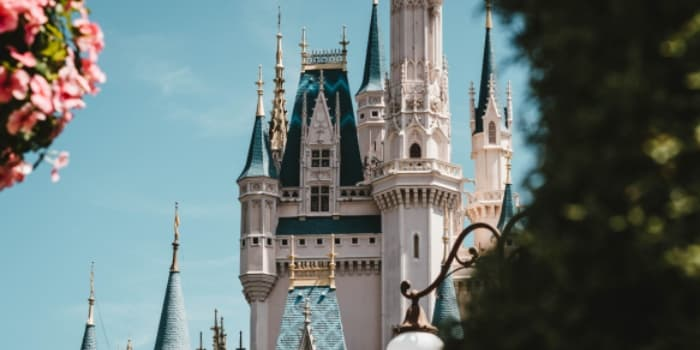 spires of cinderella's castle at disney world in florida