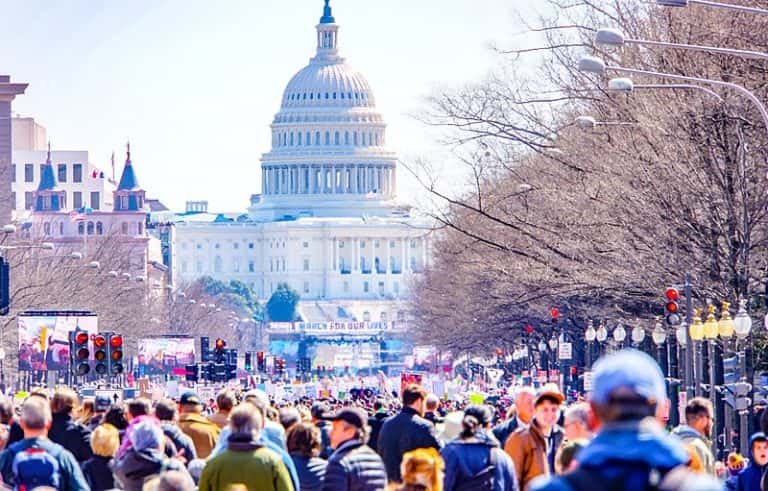 March for Our Lives in Washington, D.C., 2018.