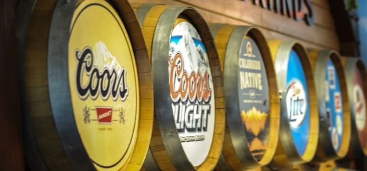 coors brands at the Coors Brewery