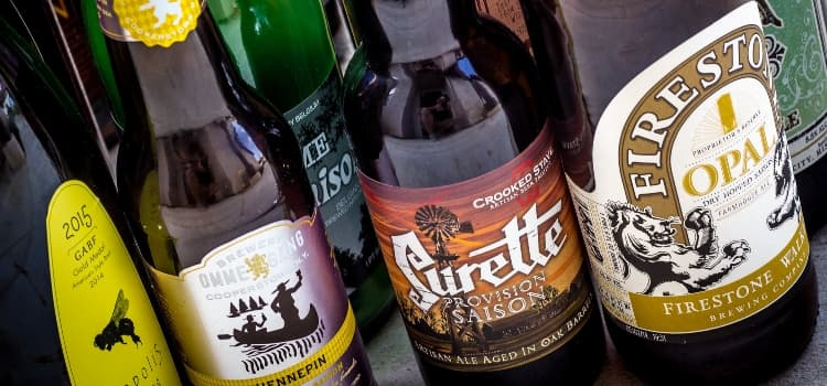 beer bottles from the great american beer festival 2015
