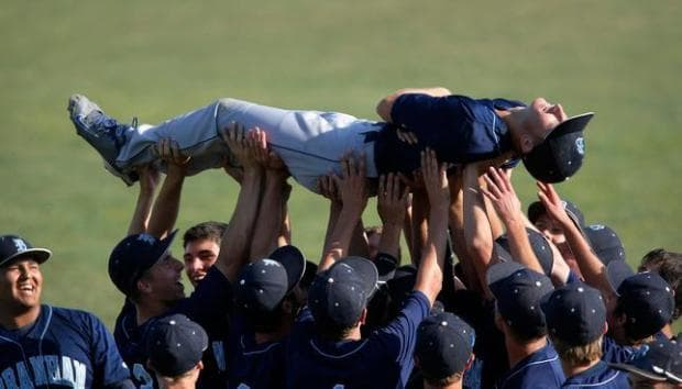 baseball team celebration