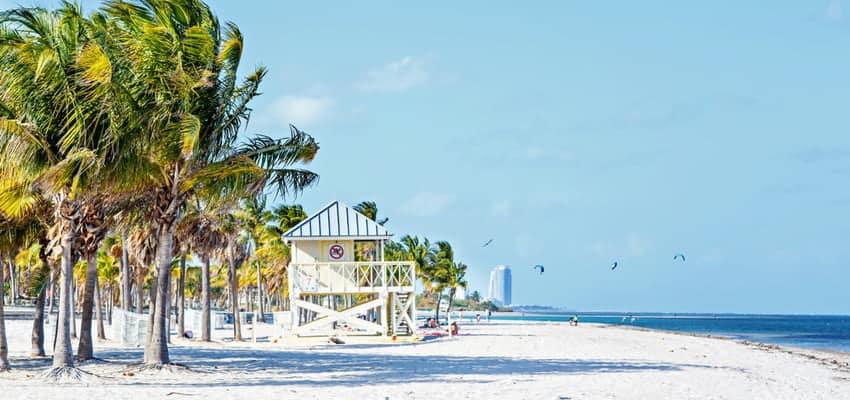 Crandon Beach in Miami