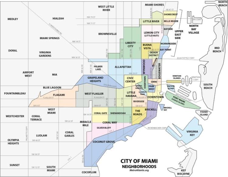 A map of Miami's neighborhoods