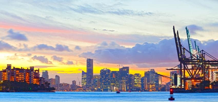 Sunset in Miami, Florida