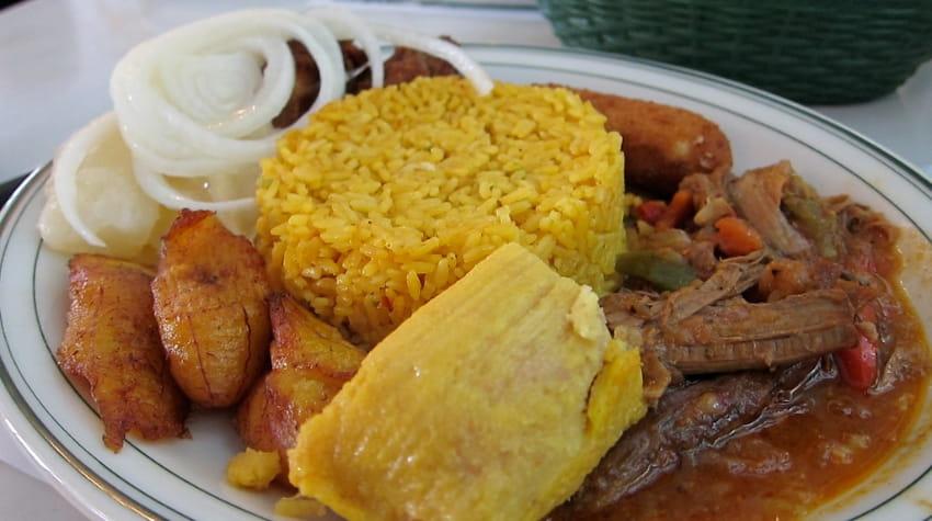 criollo sampler of cuban food at versailles restaurant miami