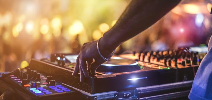 dj playing a set at a nightclub