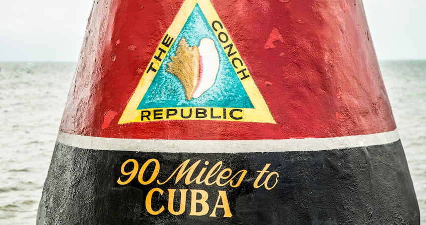 the marker in Key West that designates the southern-most point in the continental United States