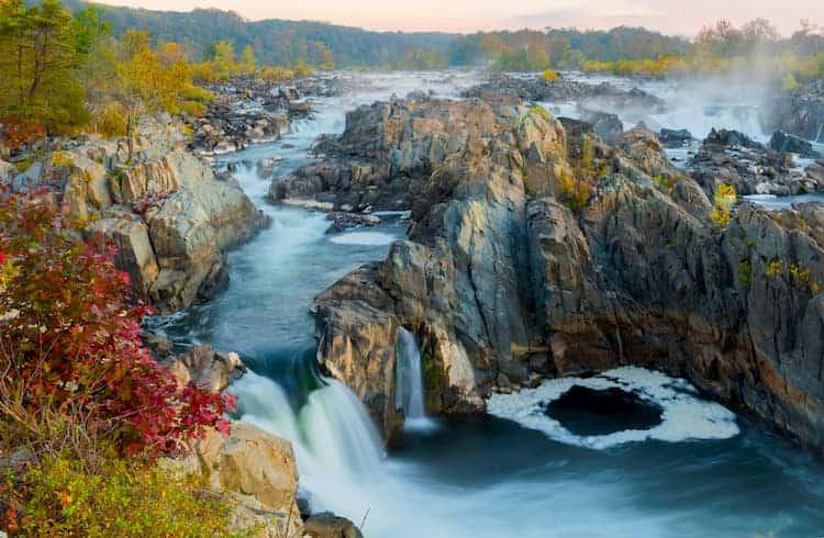 Waterfall in Rock Creek Park