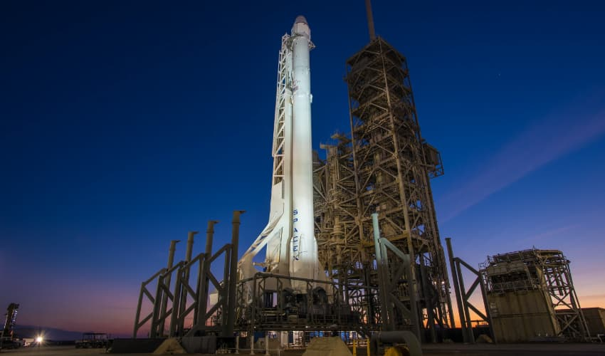 Space X shuttle at Kennedy Space Center