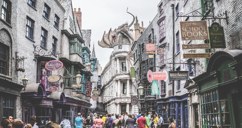 inside of harry potter world at universal studios orlando