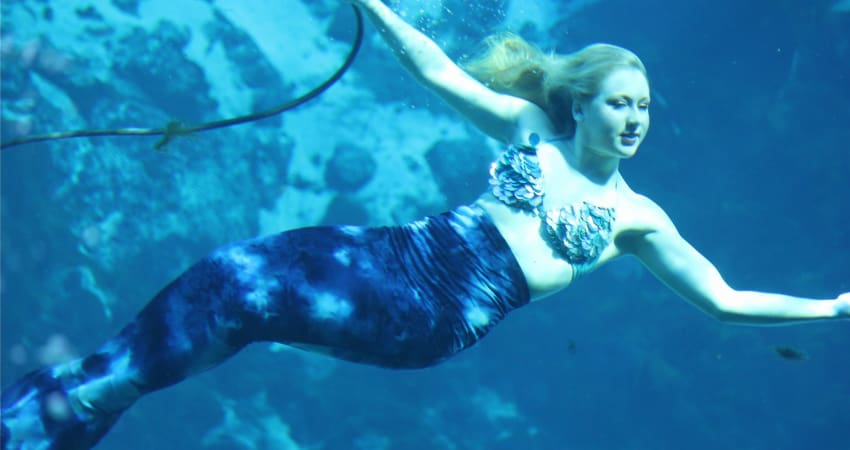 weeki wachee mermaid underwater at florida state park