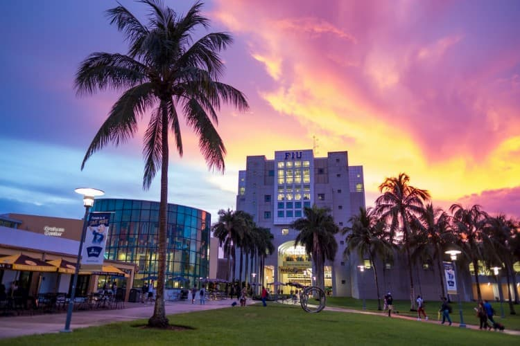 Florida International University sunset