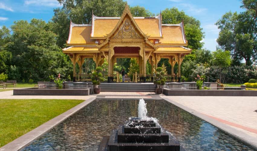 the Thai Pavilion at Olbrich Botanical Gardens
