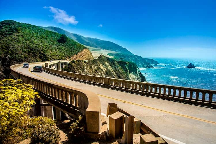 Stretch of Pacific Coast Highway