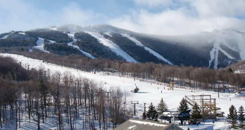 the peaks of Killington, Vermont at a distance