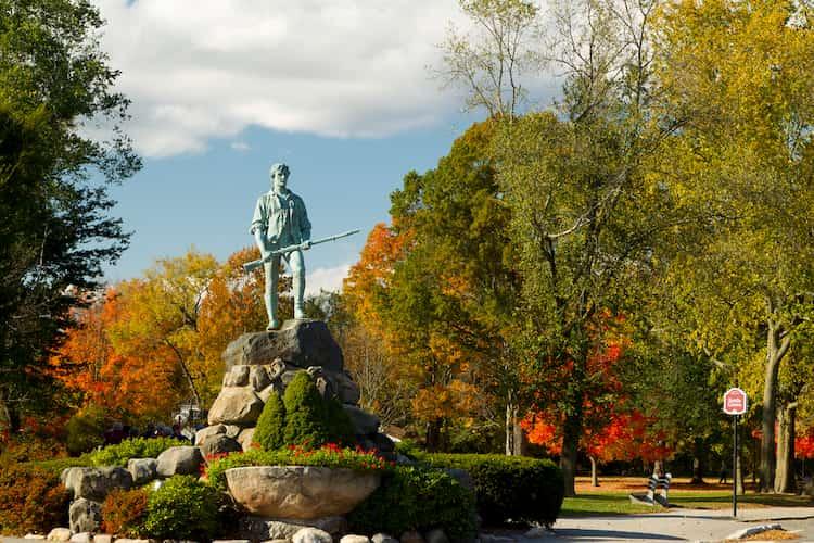 Minuteman statue in Lexington