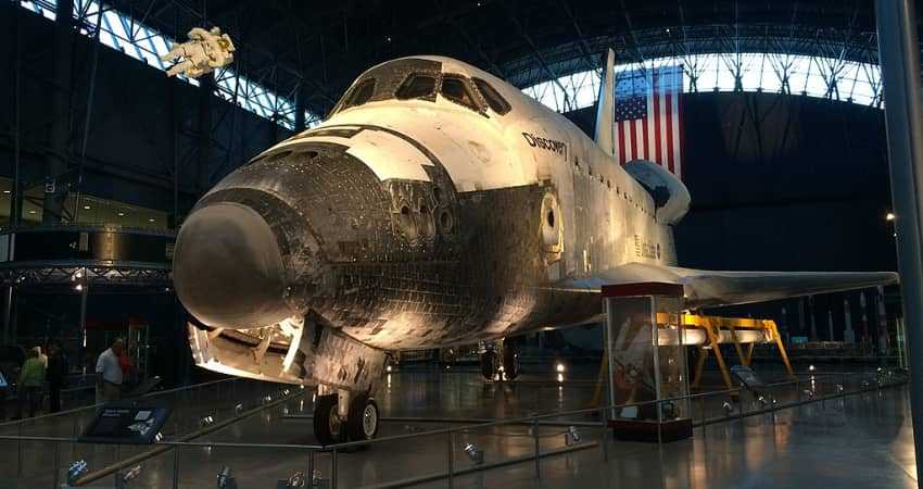 Space Shuttle Discovery at Steven F. Udvar-Hazy Center. the