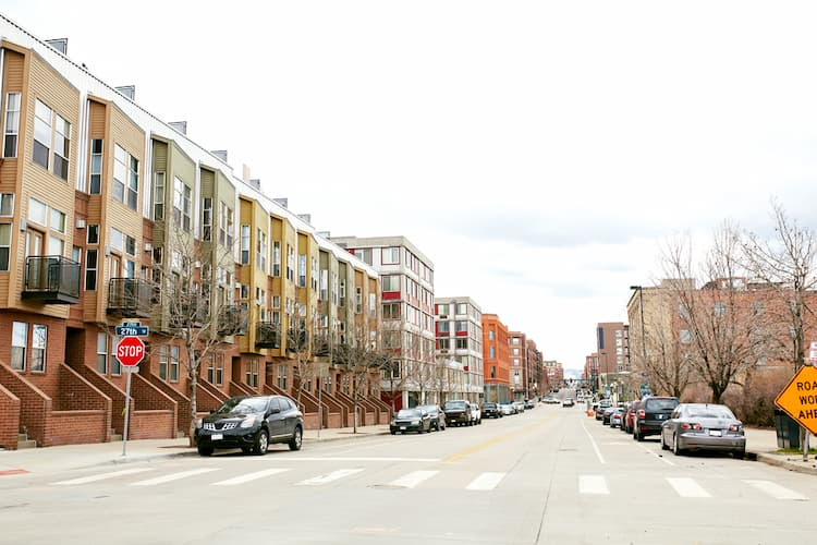 Townhouses in RiNo district of Denver