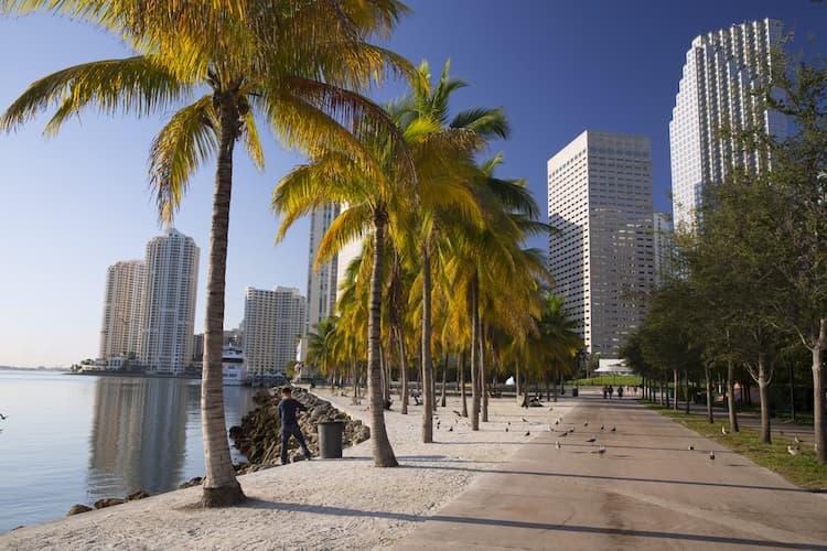 Bayfront Park walkway in Miami