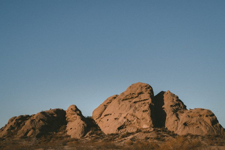 a red rock formation at phoenix's papago park
