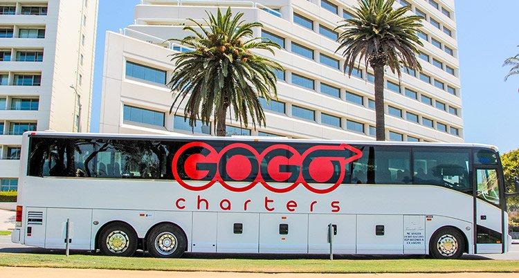 GOGO Charter Bus rentals in Pasadena CA