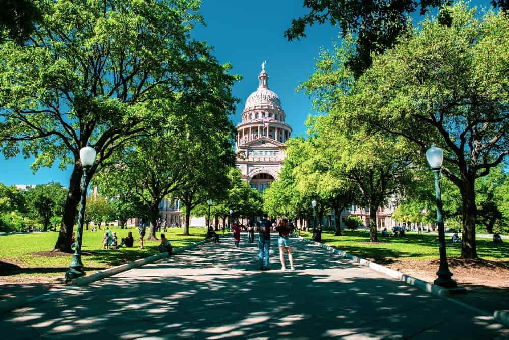 Austin downtown Texas State Capitol