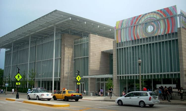 the exterior of the modern wing of the art institute of chicago