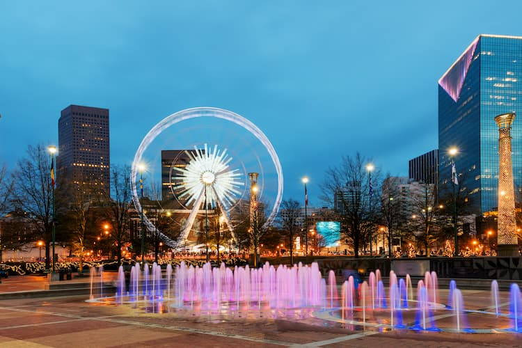 Atlanta Centennial Park in Midtown
