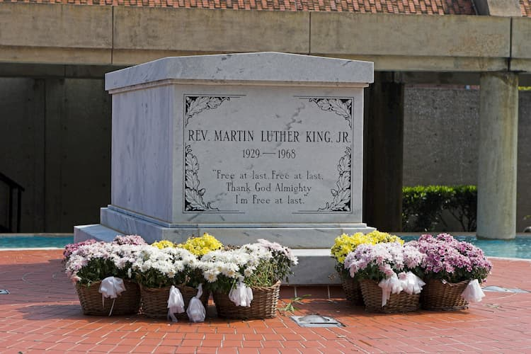 Martin Luther King's grave