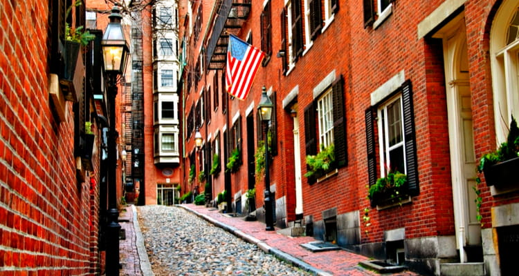 Beacon Hill streets in Boston