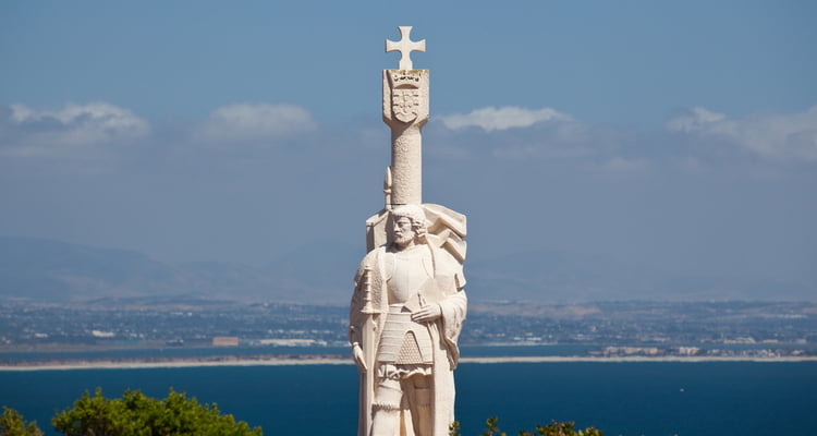 cabrillo statue at point loma san diego