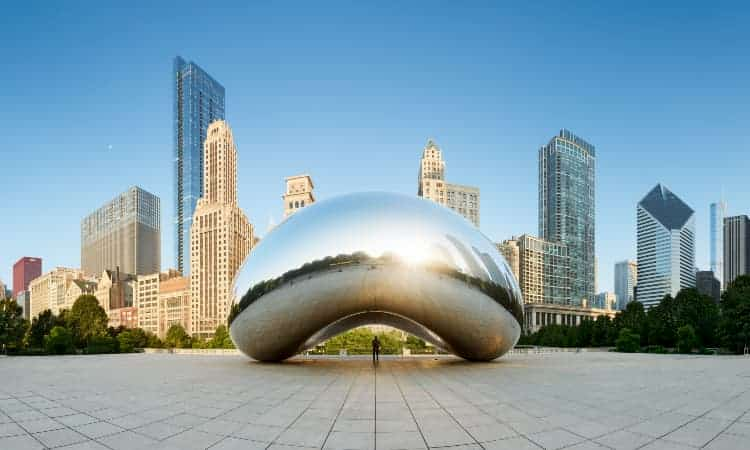 Bean sculpture in Chicago
