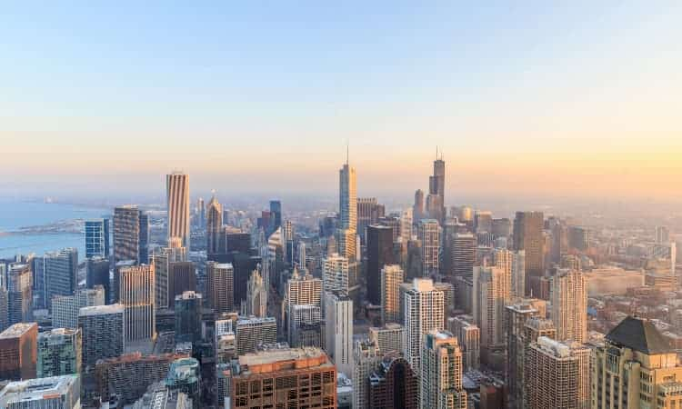 Skyline of downtown Chicago