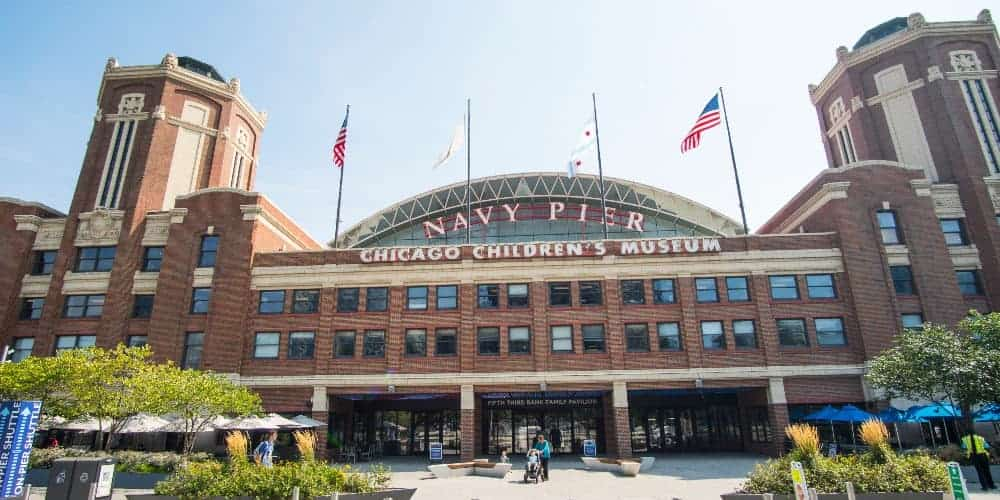 The exterior of Navy Pier's Chicago Children's Museum