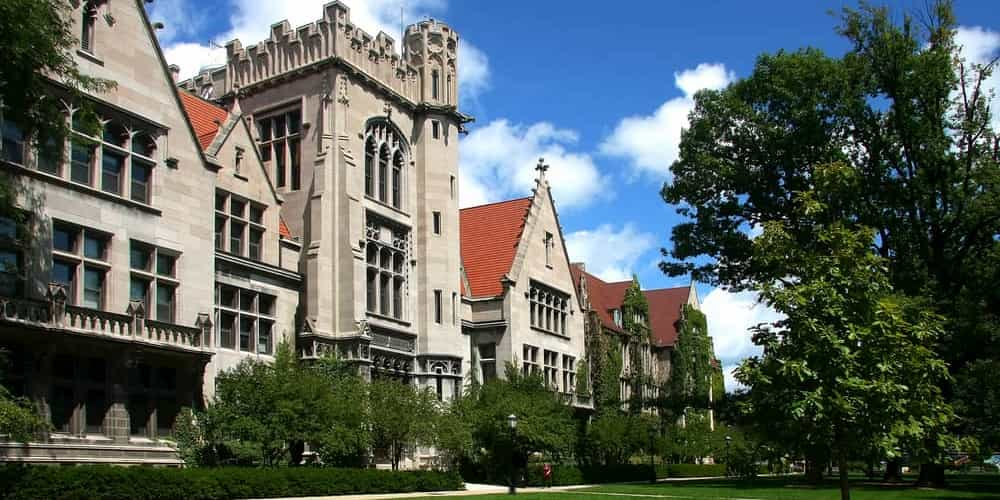 a view of the university of chicago's campus