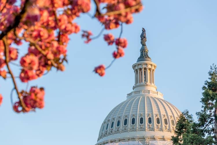 The exterior rotunda of the US Capitol in Washington DC